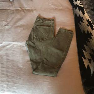 GAP 1969 army green skinny jean